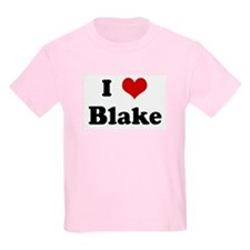 I Love Blake Kids T-Shirt