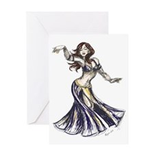 DancerColor-Transparent Greeting Card