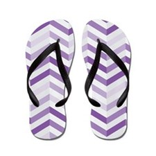 Cute Purple Zigzag Chevron Flip Flops