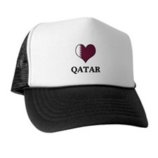 Qatar heart Trucker Hat