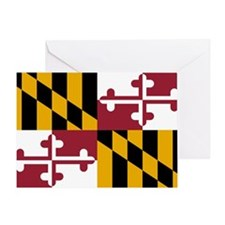 2000px-Flag_of_Maryland_svg Greeting Card