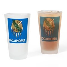 2000px-Flag_of_Oklahoma_svg Drinking Glass
