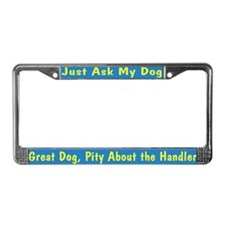 Great Dog JAMD License Plate Frame
