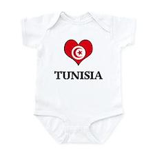 Tunisia heart Infant Bodysuit