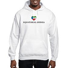 Equatorial Guinea heart Hoodie