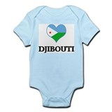 Djibouti heart Infant Bodysuit