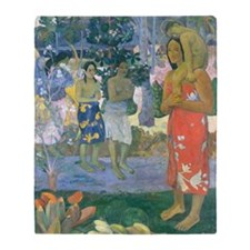 iPad Gauguin Mary Throw Blanket