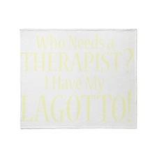 therapistlagotto_black Throw Blanket