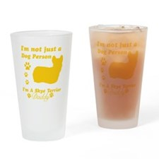 skye terrier-daddy1 Drinking Glass