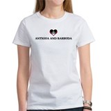 Antigua And Barbuda heart Tee