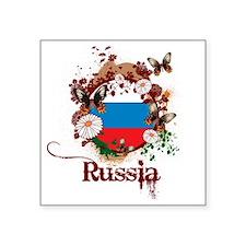 """psychedelic3Russia1 Square Sticker 3"""" x 3"""""""