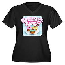 tshirt_01 Women's Plus Size Dark V-Neck T-Shirt