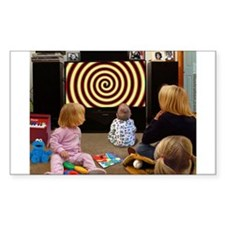 Hypnotic TV Rectangle Decal