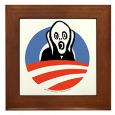 ObamaScream Framed Tile