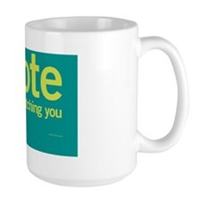 IVote_Notecard_Teal Coffee Mug