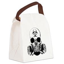 Biohazard Zombie Skull Canvas Lunch Bag