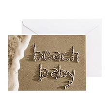 beach baby sepia Greeting Card