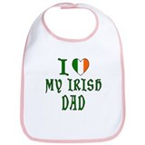 I Love My Irish Dad Bib