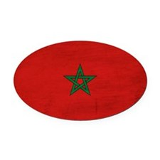 Moroccotex3tex3-paint Oval Car Magnet