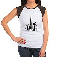 eiffel tower cats 3 FIN Tee