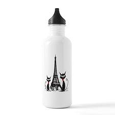 eiffel tower cats 3 FI Water Bottle