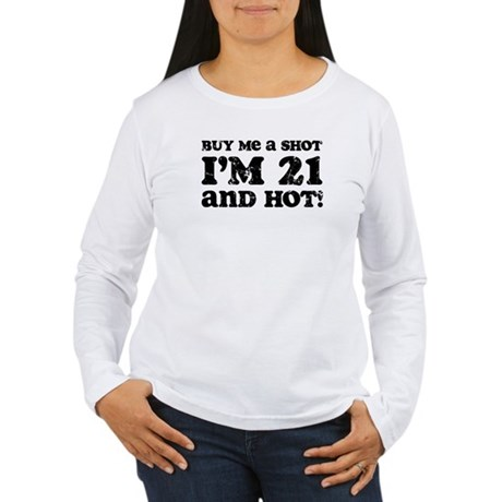 Retro 21 & Hot Women's Long Sleeve T-Shirt