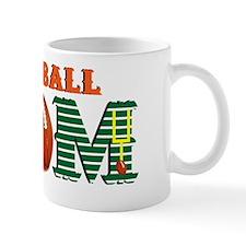 Orange Football MOM Mug