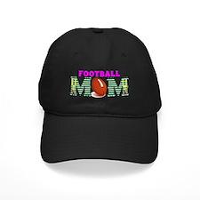 Pink Football MOM Baseball Hat