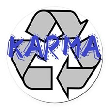 Karma Round Car Magnet