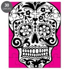sugarskull pink background Puzzle