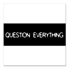 "Unique Question evolution Square Car Magnet 3"" x 3"""