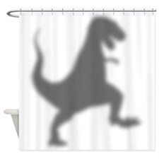 T-Rex Silhouette Shower Curtain