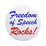 Freedom of Speech Rocks! Ornament (Round)