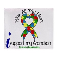 D Grandson Throw Blanket