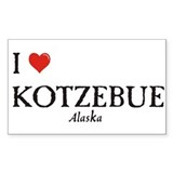 I Love Kotzebue Rectangle Decal