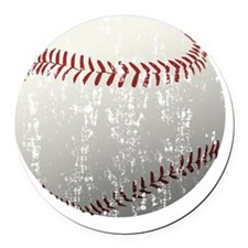 Baseball-1 Round Car Magnet
