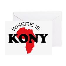 Where is Kony 1 Greeting Card