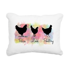 peacelovepoultry Rectangular Canvas Pillow