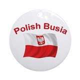 Polish Busia Ornament (Round)