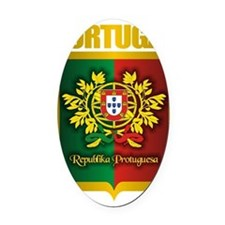 Portuguese Gold Oval Car Magnet
