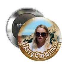"Customized Xmas Design 2.25"" Button"
