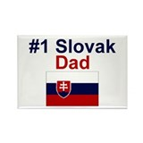 #1 Slovak Dad Rectangle Magnet