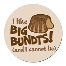 I like BIG BUNDTS Round Car Magnet