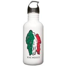 bike mexico white Water Bottle