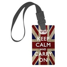 large_KEEP_CALM_UNION_JACK Luggage Tag