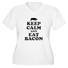 Keep Calm Eat Bacon Plus Size T-Shirt
