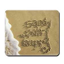 sandy salty happy Mousepad