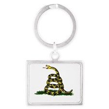 DONT TREAD ON ME Dark Apparel Landscape Keychain