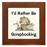 Rather Be Scrapbooking Framed Tile