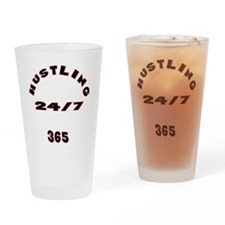 HUSTLE Drinking Glass